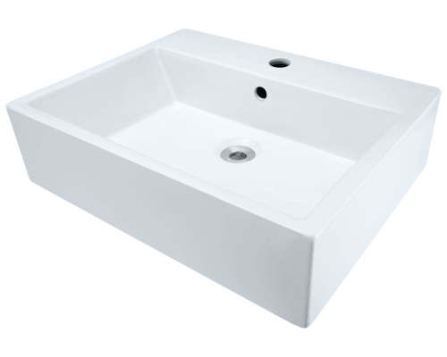 V2502-White Porcelain Vessel Sink