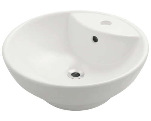 V270 Bisque Bisque Porcelain Vessel Sink