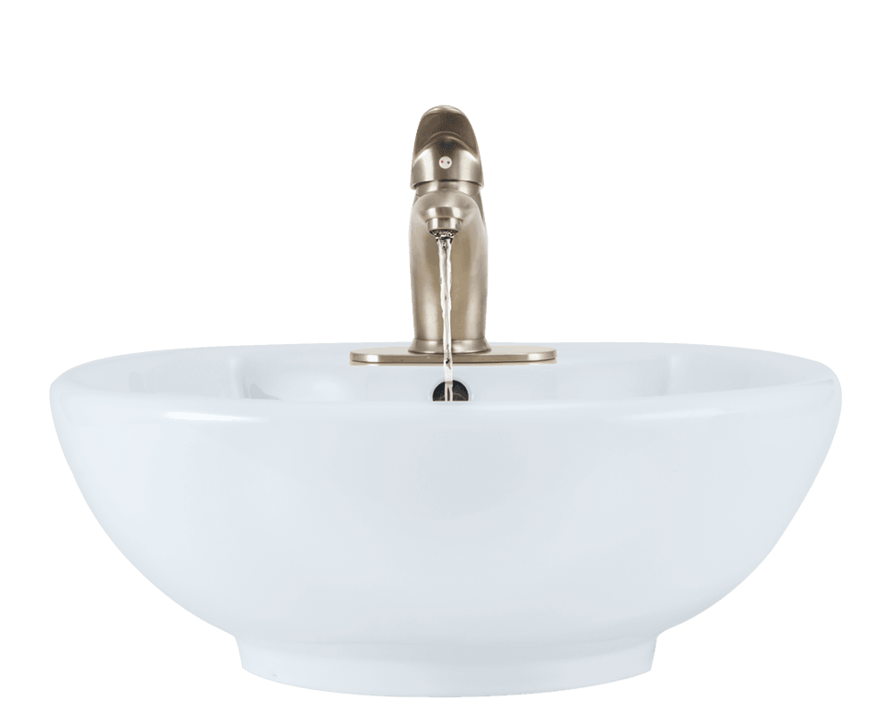 V2702-White Alt Image: Vitreous China One Bowl Vessel Limited Lifetime Bathroom Sink