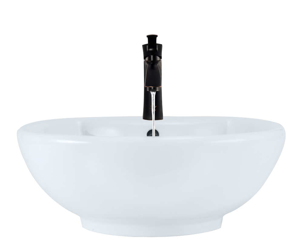 V2702-White Alt Image: Vitreous China One Bowl Limited Lifetime Vessel Bathroom Sink