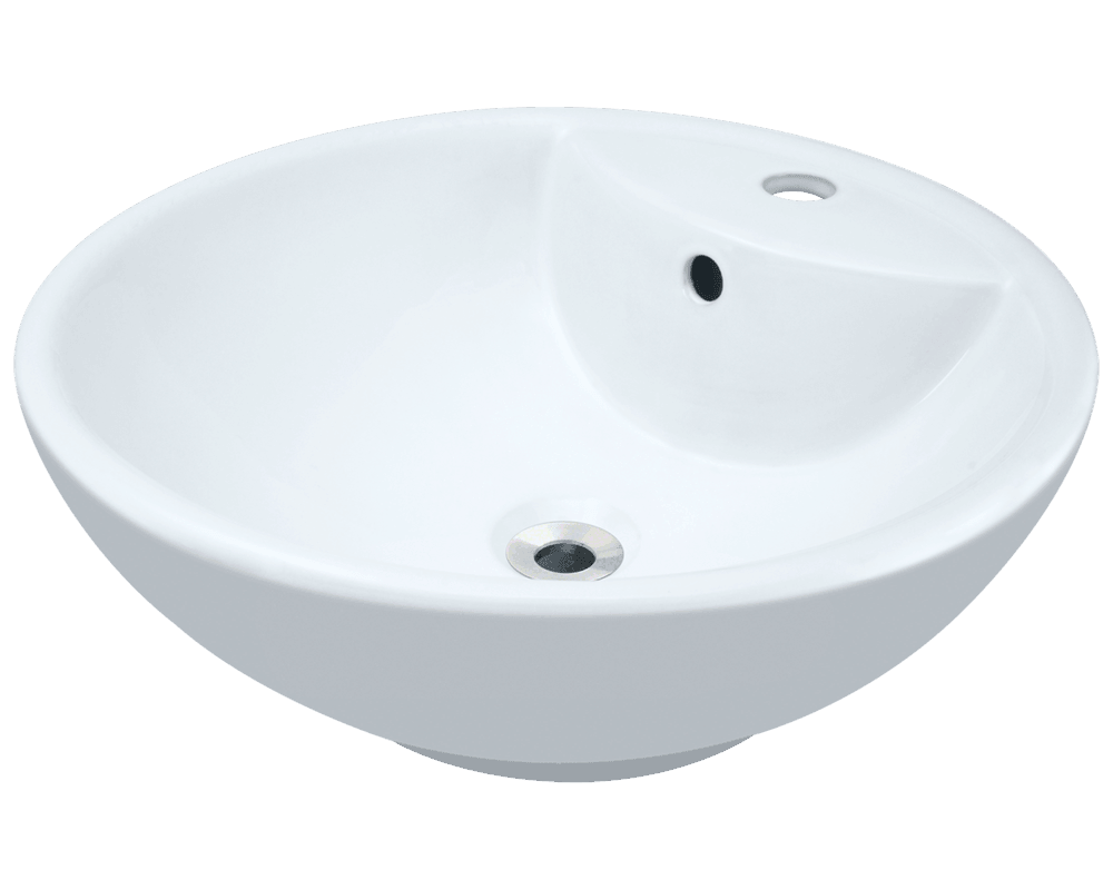 MR Direct V2702-White Porcelain Vessel Sink