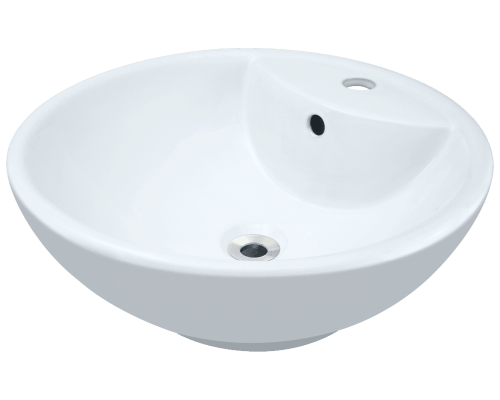 V2702-White Porcelain Vessel Sink