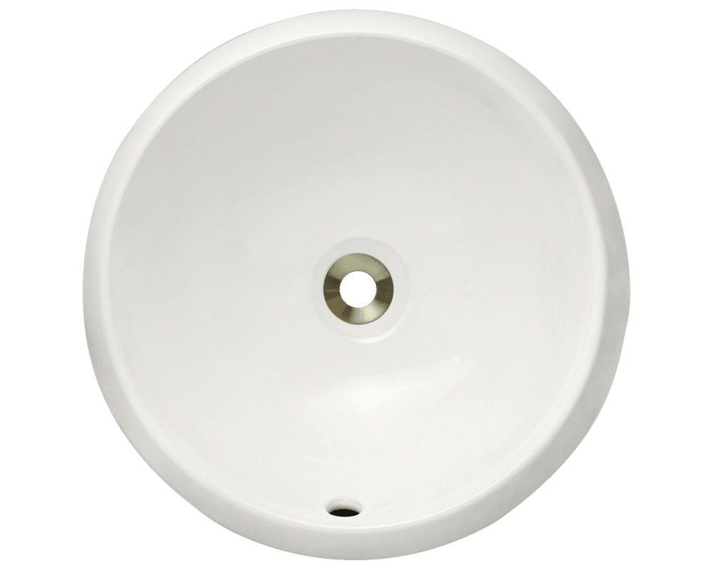 V280-Bisque Alt Image: Vitreous China Round Vessel Bisque Bathroom Sink