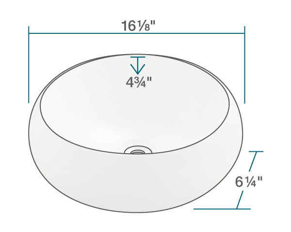 "The dimensions of V280-Bisque Porcelain Vessel Sink is 16 1/8"" x 16 1/8"" x 6 1/4"". Its minimum cabinet size is 18""."
