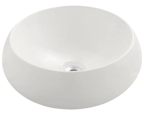 V280-Bisque Porcelain Vessel Sink