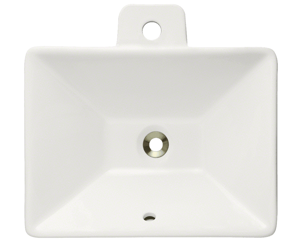 V290-Bisque Alt Image: Vitreous China Rectangle Vessel Bisque Bathroom Sink