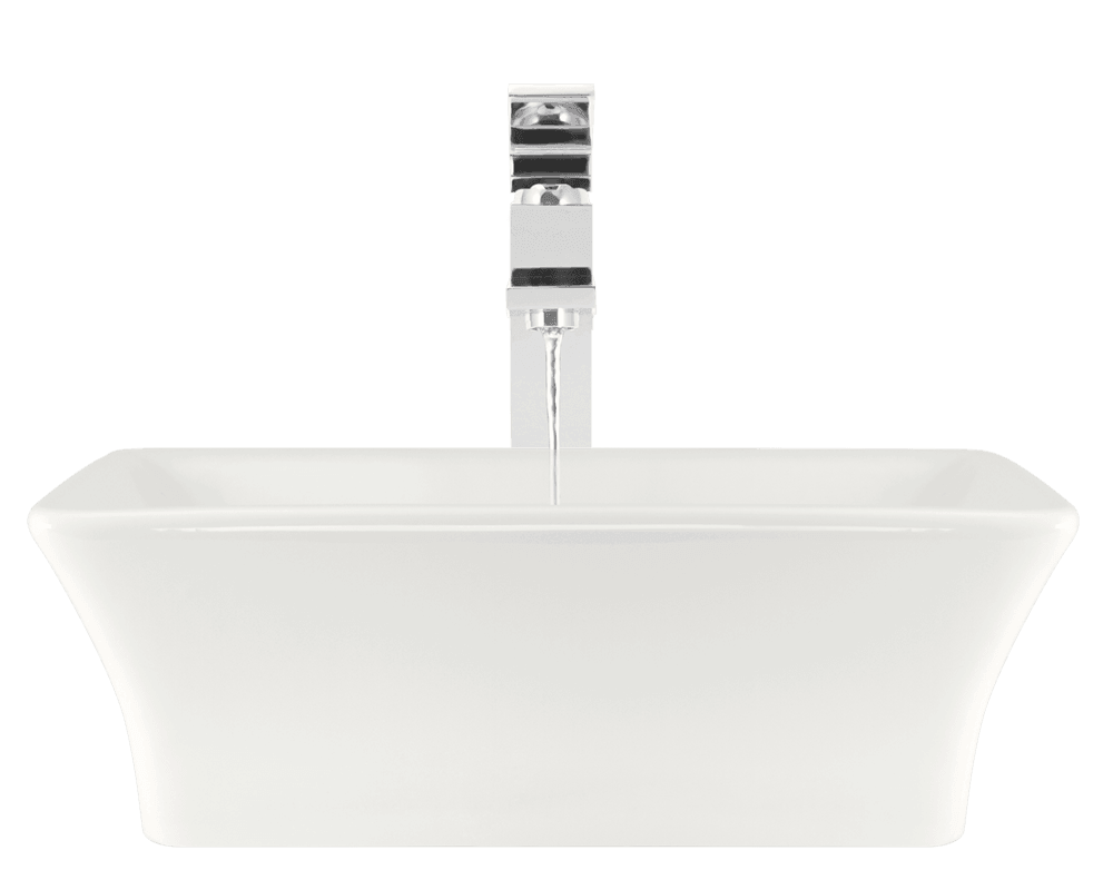 V290-Bisque Alt Image: Vitreous China Rectangle Bisque Vessel Bathroom Sink
