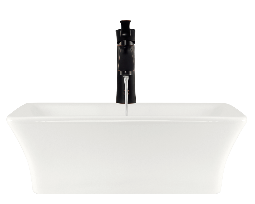 V290-Bisque Alt Image: Vitreous China Vessel Bisque Rectangle Bathroom Sink