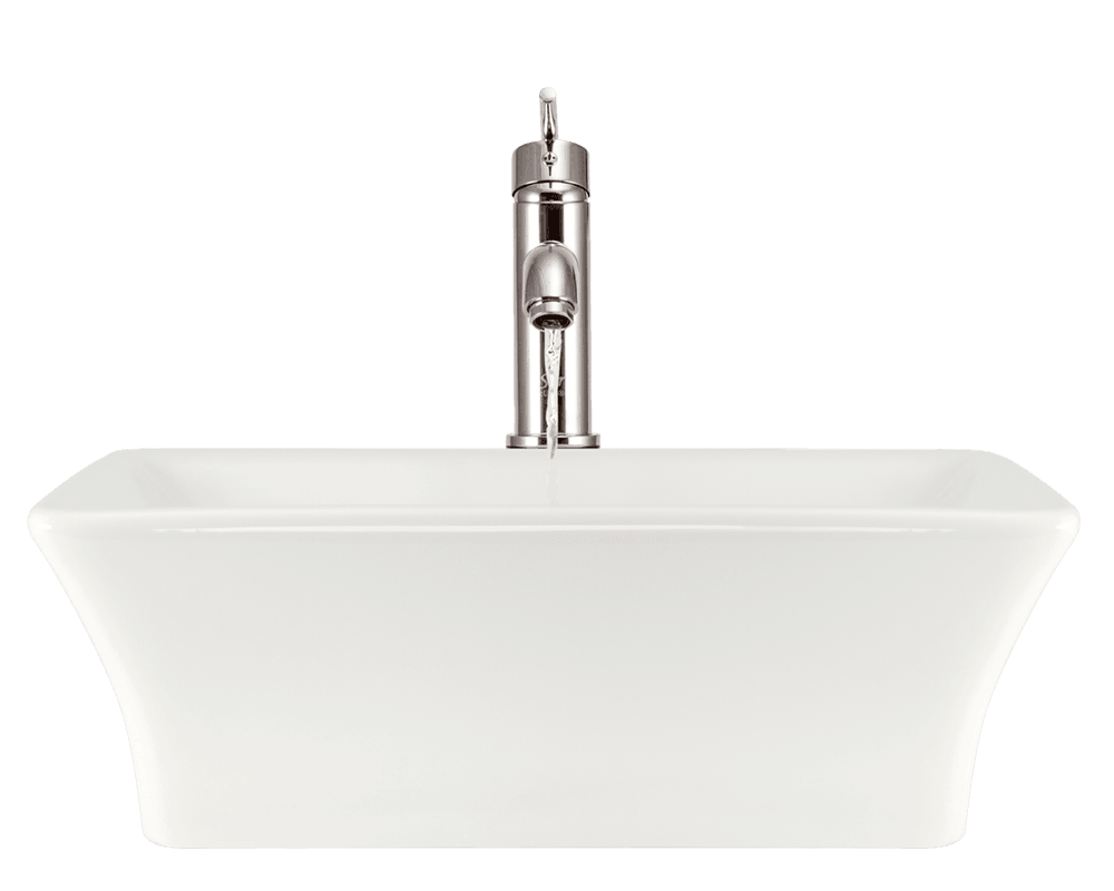 V290-Bisque Alt Image: Vitreous China Bisque Vessel Rectangle Bathroom Sink