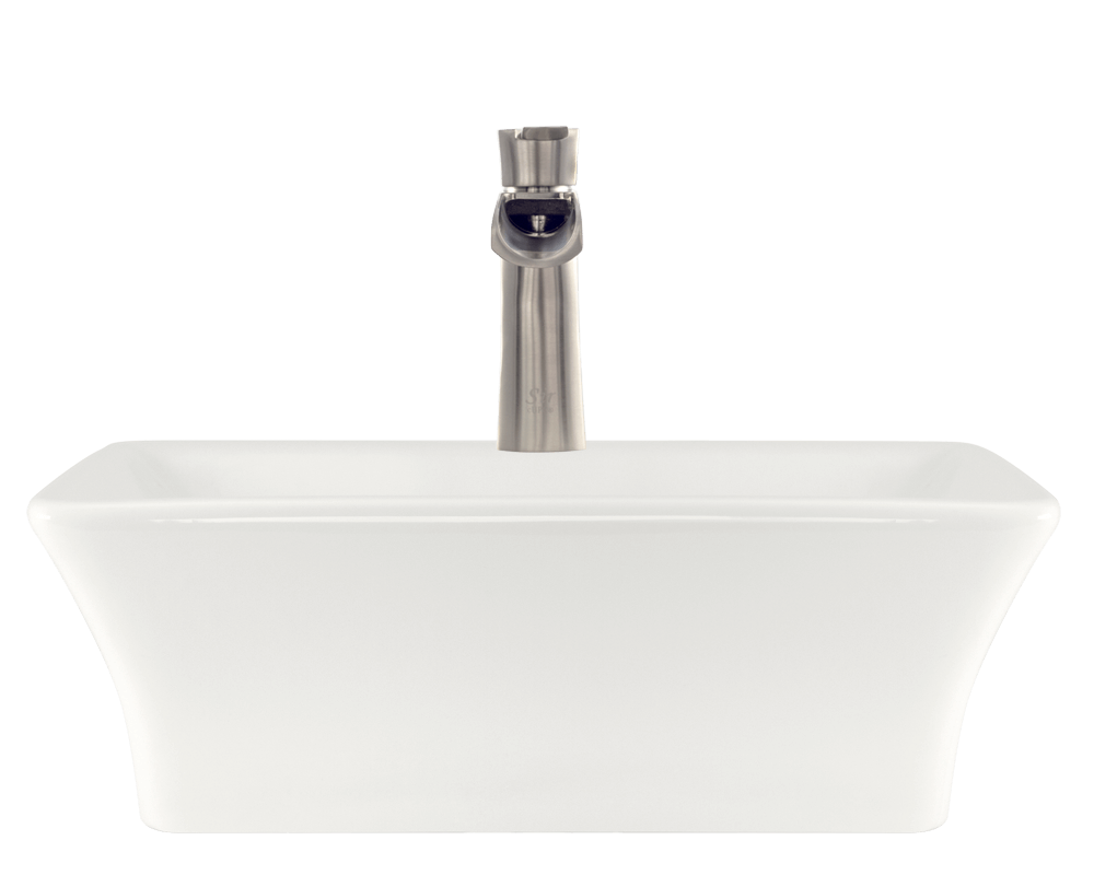 V290-Bisque Alt Image: Vitreous China Bisque Rectangle Vessel Bathroom Sink