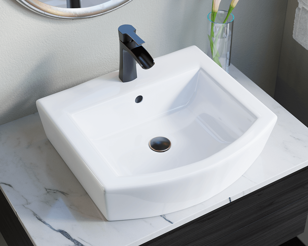 V7-White Porcelain Vessel Sink