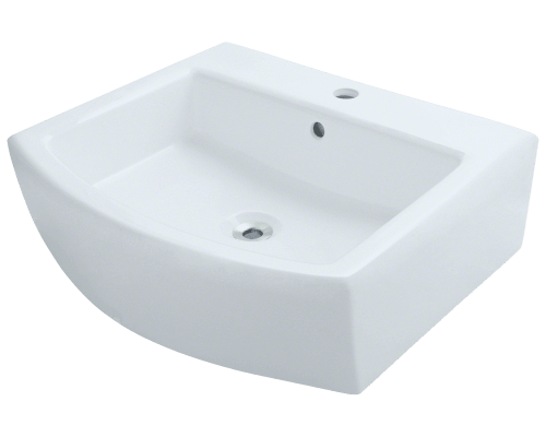 V300-White Porcelain Vessel Sink
