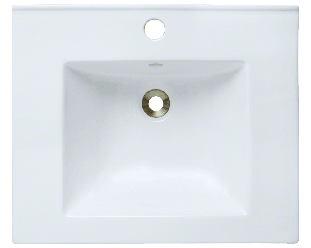 V310-White Alt Image: Vitreous China /Vessel White One Bowl Bathroom Sink