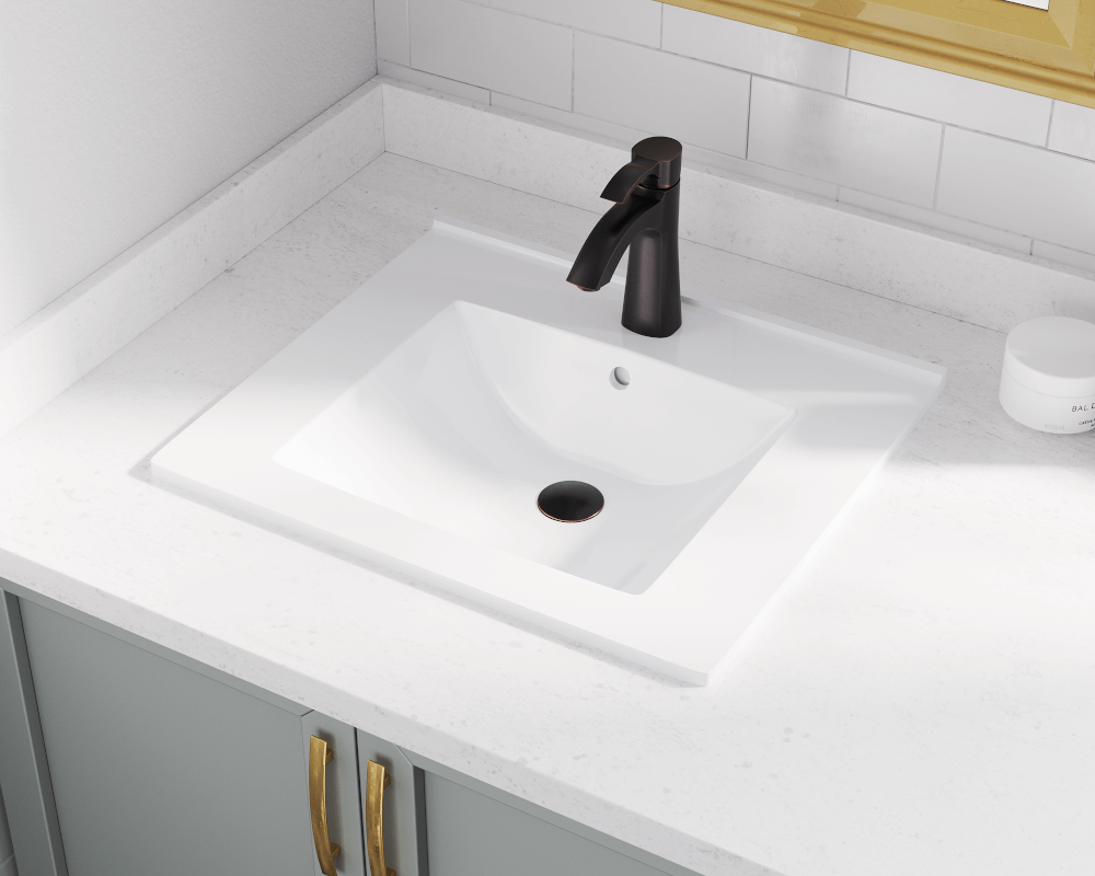 V310-White Lifestyle Image: Vitreous China /Vessel White One Bowl Bathroom Sink
