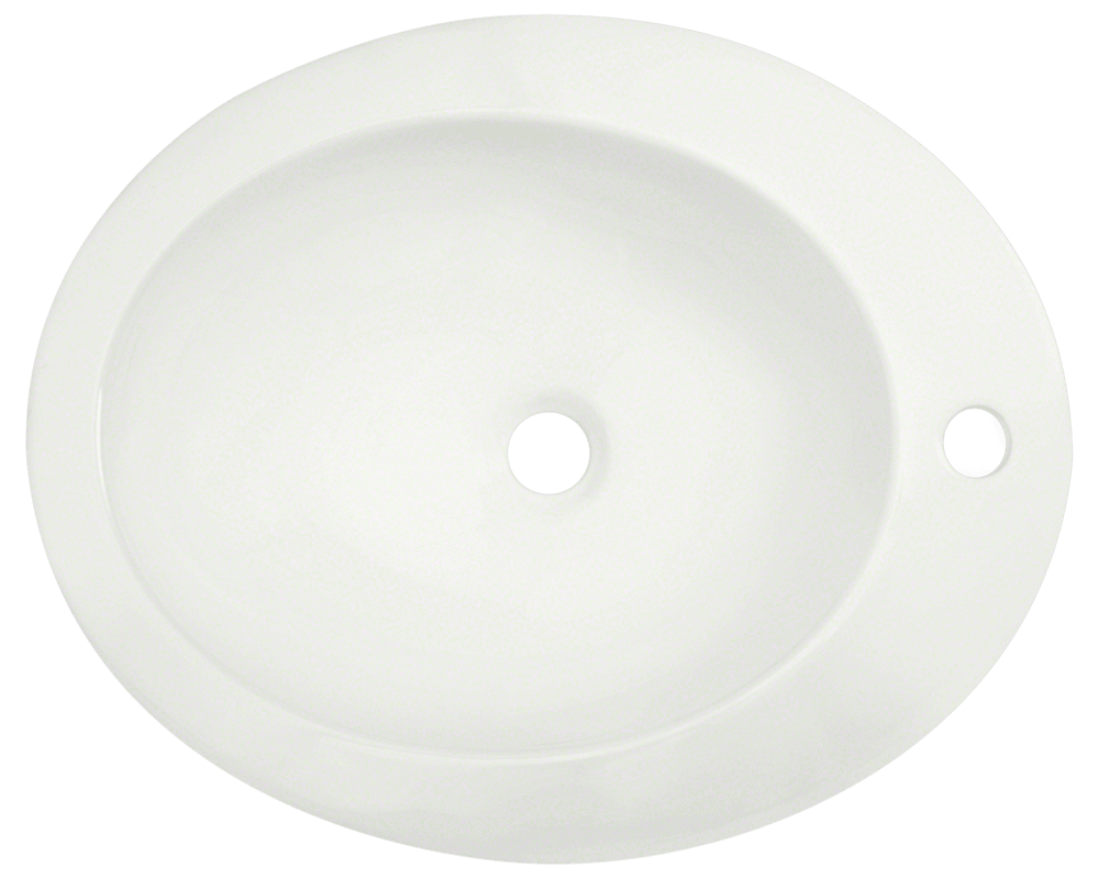 V3202-Bisque Alt Image: Vitreous China Vessel One Bowl Limited Lifetime Bathroom Sink