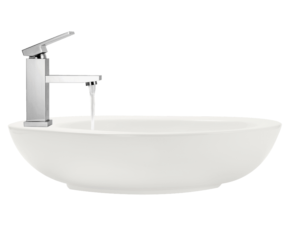 V3202-Bisque Alt Image: Vitreous China Vessel Limited Lifetime One Bowl Bathroom Sink