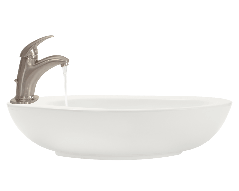 V3202-Bisque Alt Image: Vitreous China One Bowl Vessel Limited Lifetime Bathroom Sink