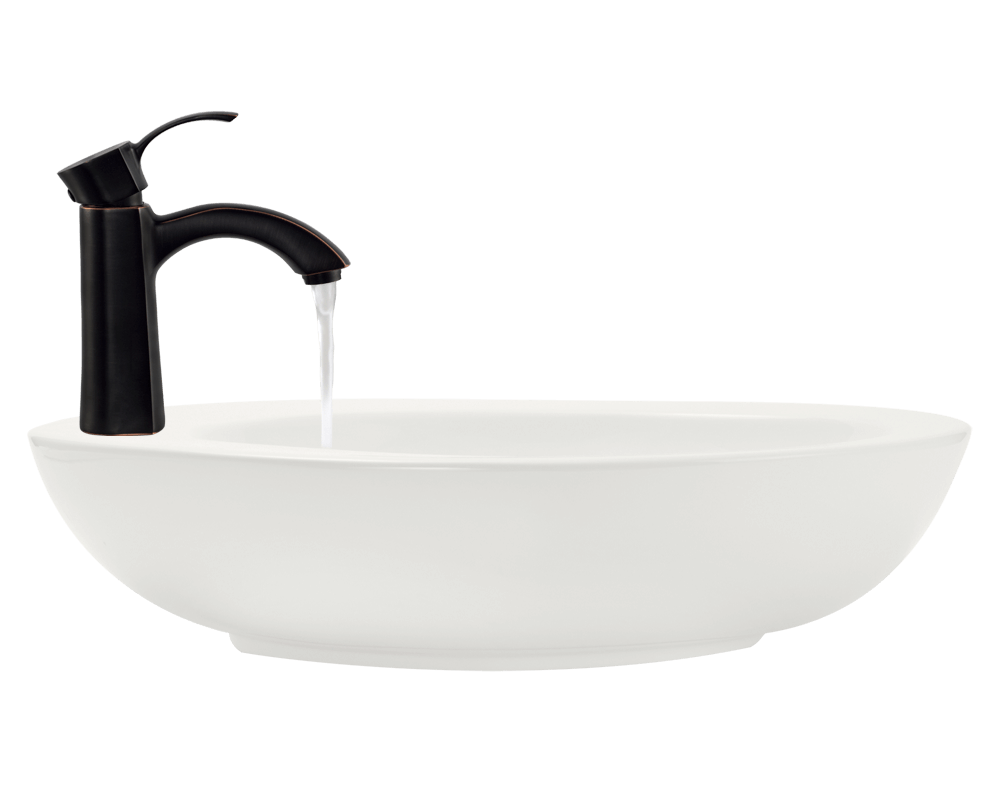 V3202-Bisque Alt Image: Vitreous China One Bowl Limited Lifetime Vessel Bathroom Sink