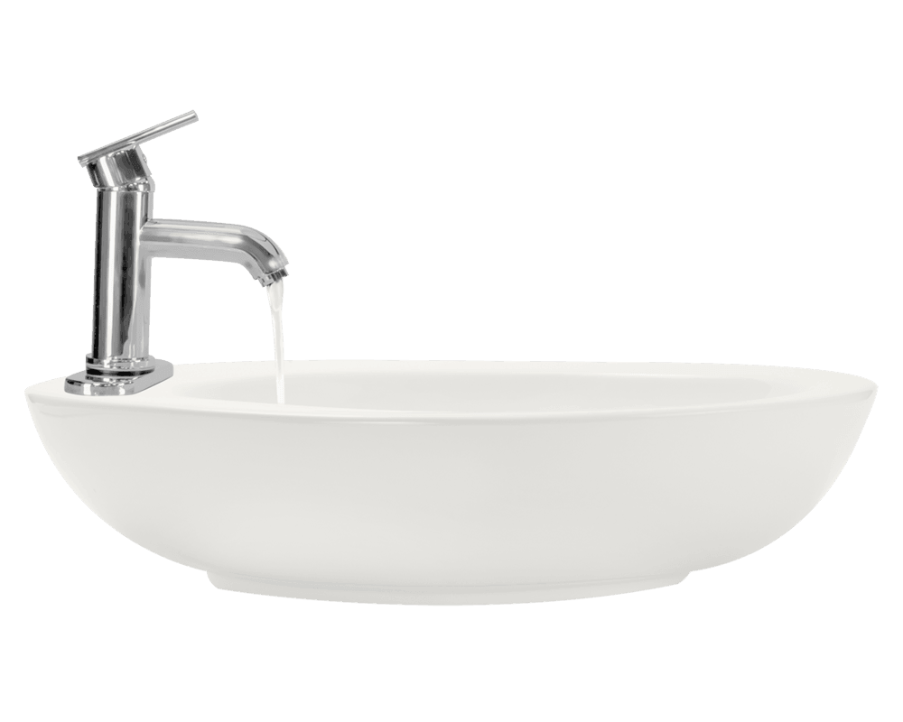V3202-Bisque Alt Image: Vitreous China Limited Lifetime One Bowl Vessel Bathroom Sink
