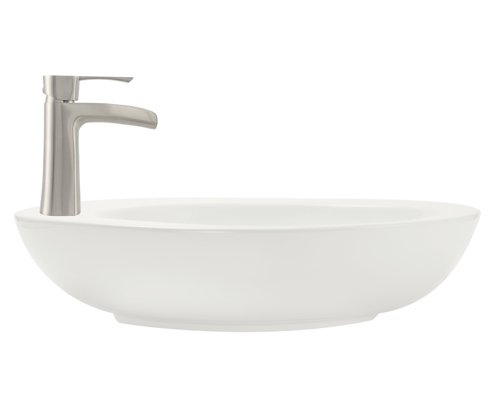 V3202-Bisque Alt Image: Vitreous China Limited Lifetime Vessel One Bowl Bathroom Sink