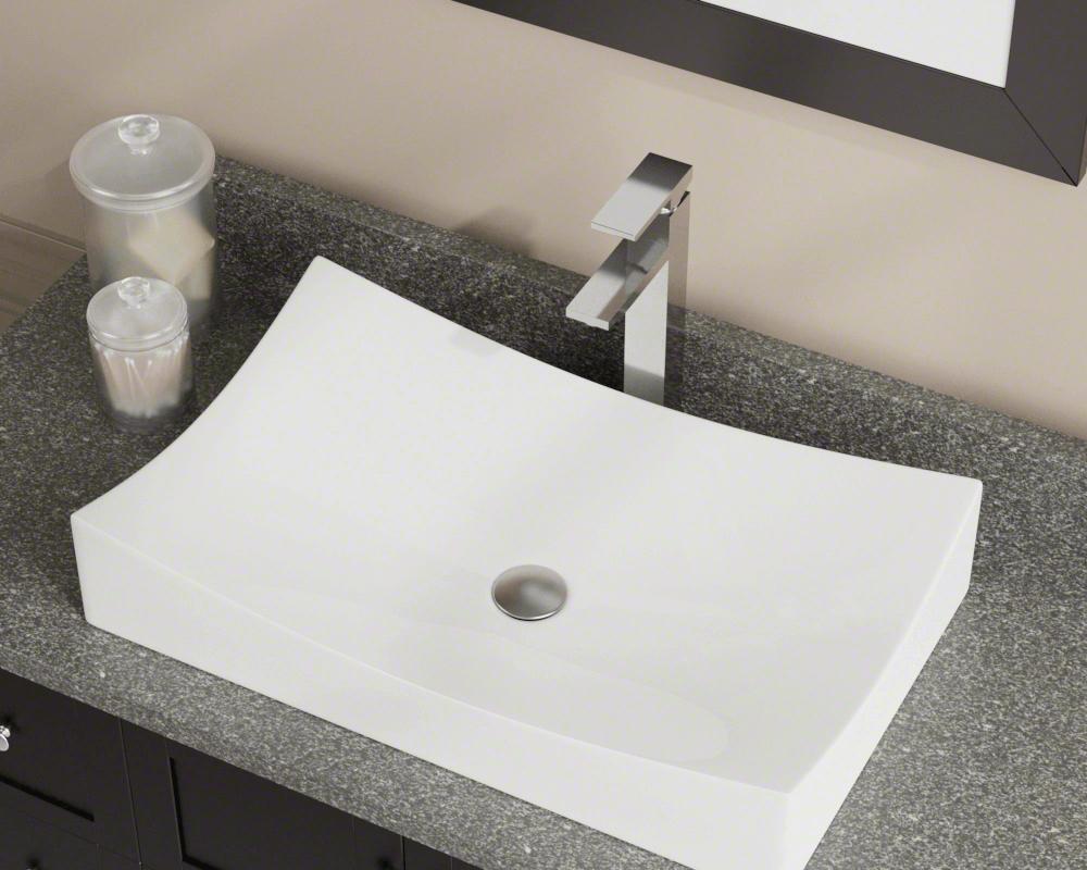 V330 Bisque Porcelain Vessel Sink