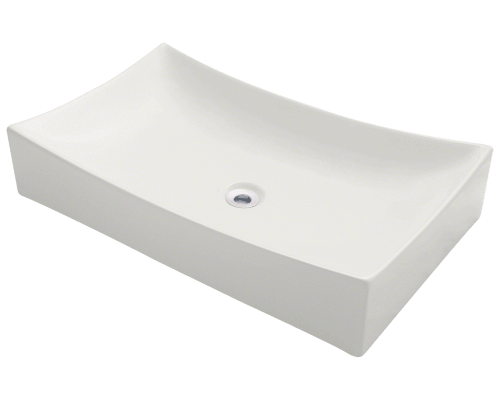 V330-Bisque Porcelain Vessel Sink