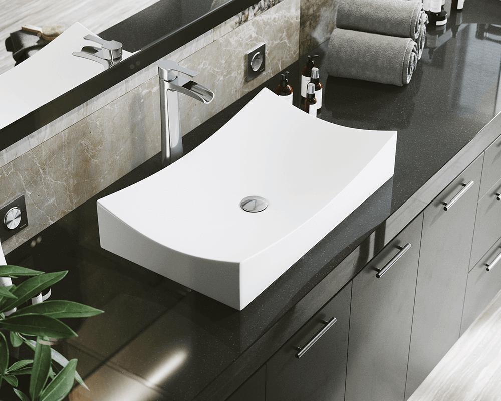 V330 White Porcelain Vessel Sink