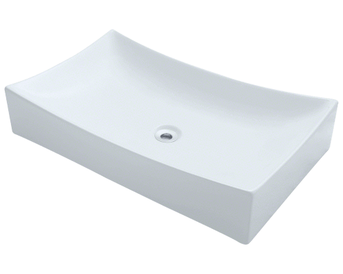 V330-White Porcelain Vessel Sink