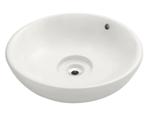 V340-Bisque Porcelain Vessel Sink