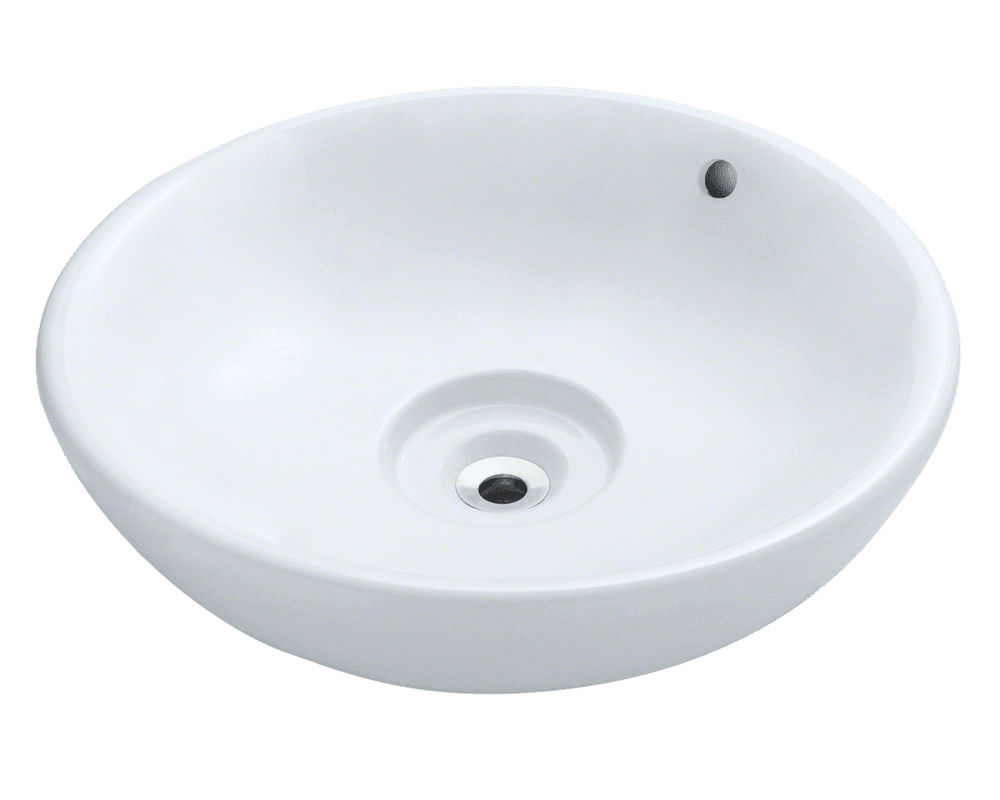 MR Direct V340-White Porcelain Vessel Sink