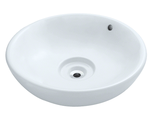 V340-White Porcelain Vessel Sink