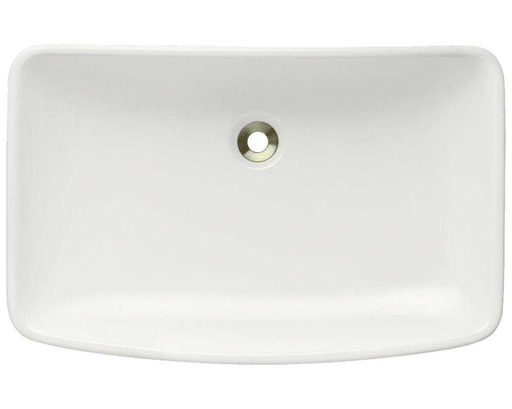 V350-Bisque Alt Image: Vitreous China Rectangle Vessel Bisque Bathroom Sink