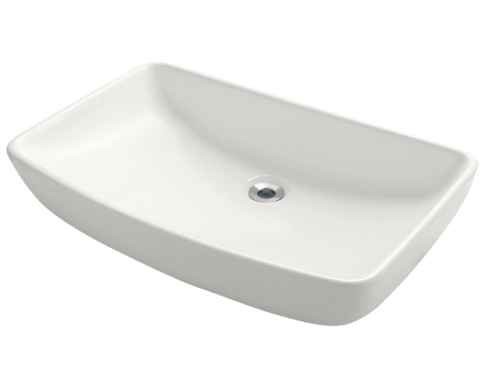 MR Direct V350-Bisque Porcelain Vessel Sink