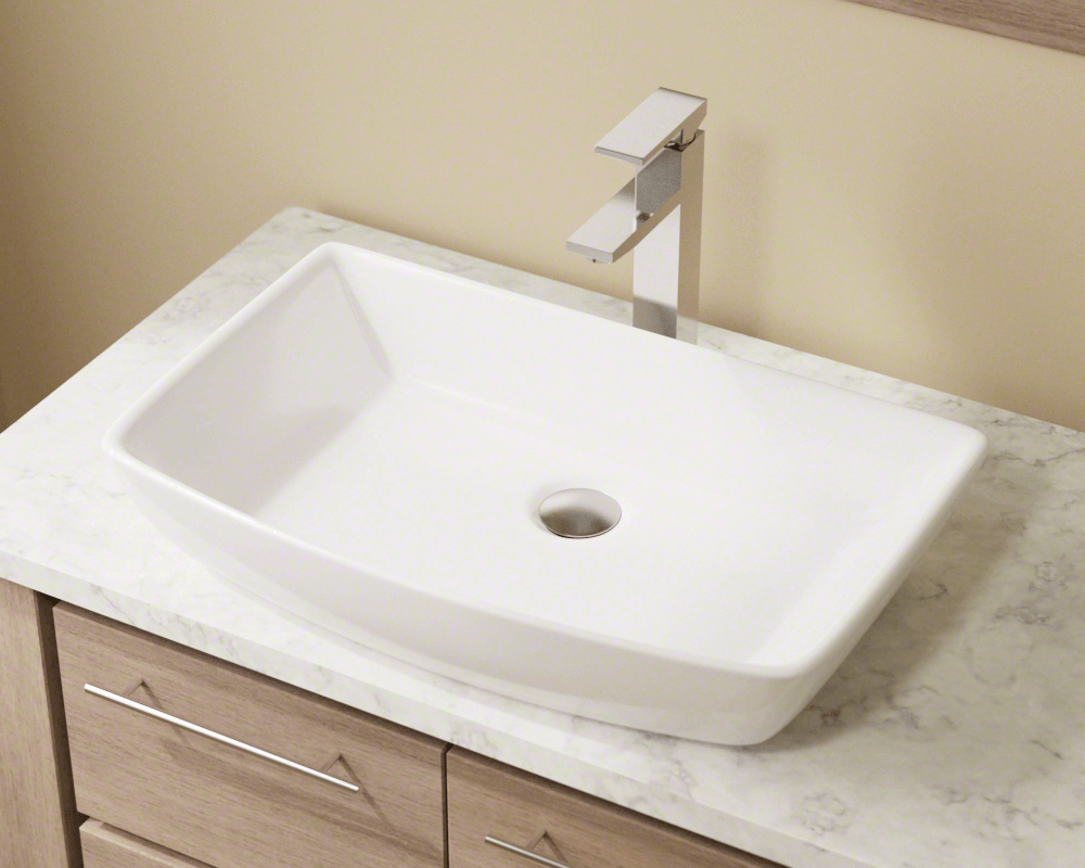 V350 White Porcelain Vessel Sink