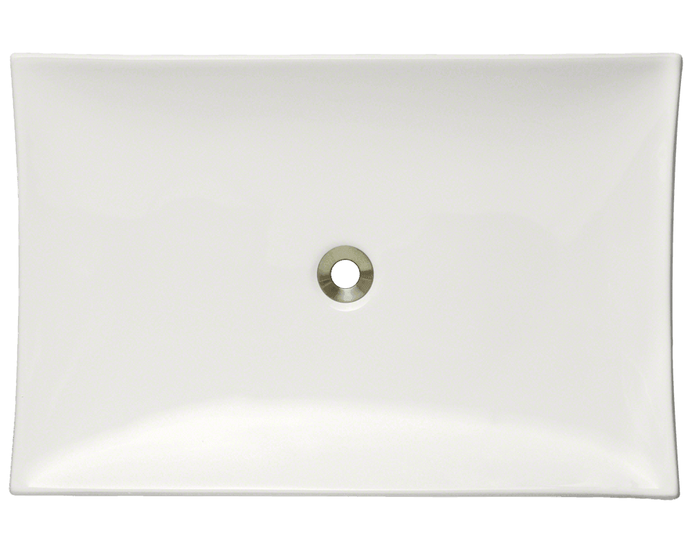 V360-Bisque Alt Image: Vitreous China Rectangle Vessel Bisque Bathroom Sink