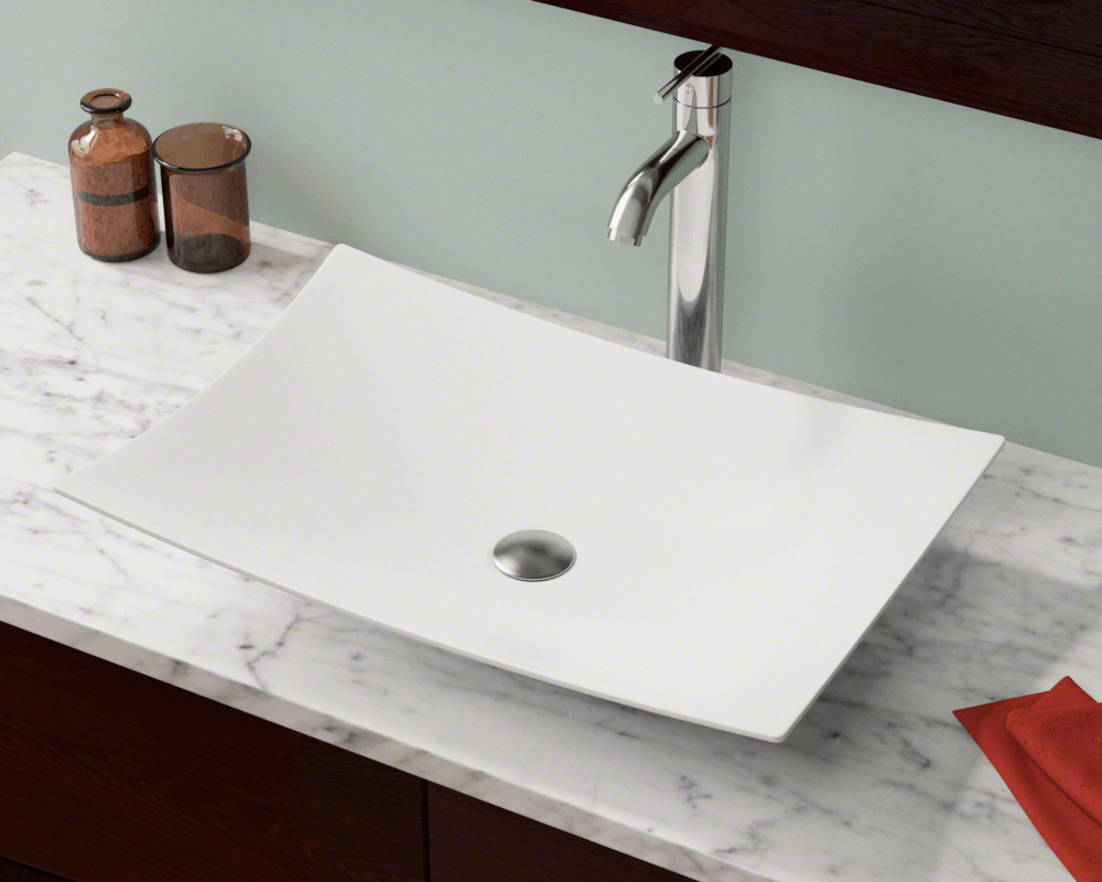 V360 White Porcelain Vessel Sink