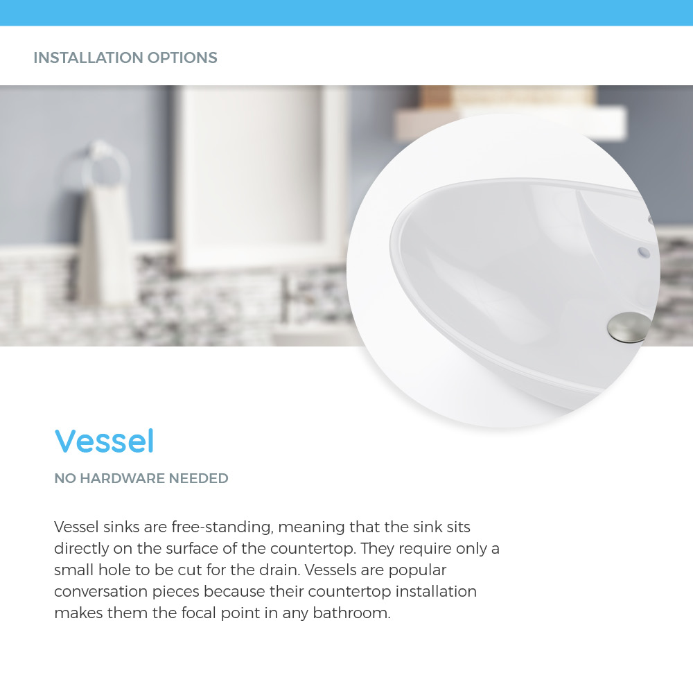 Vessel porcelain sink on white background