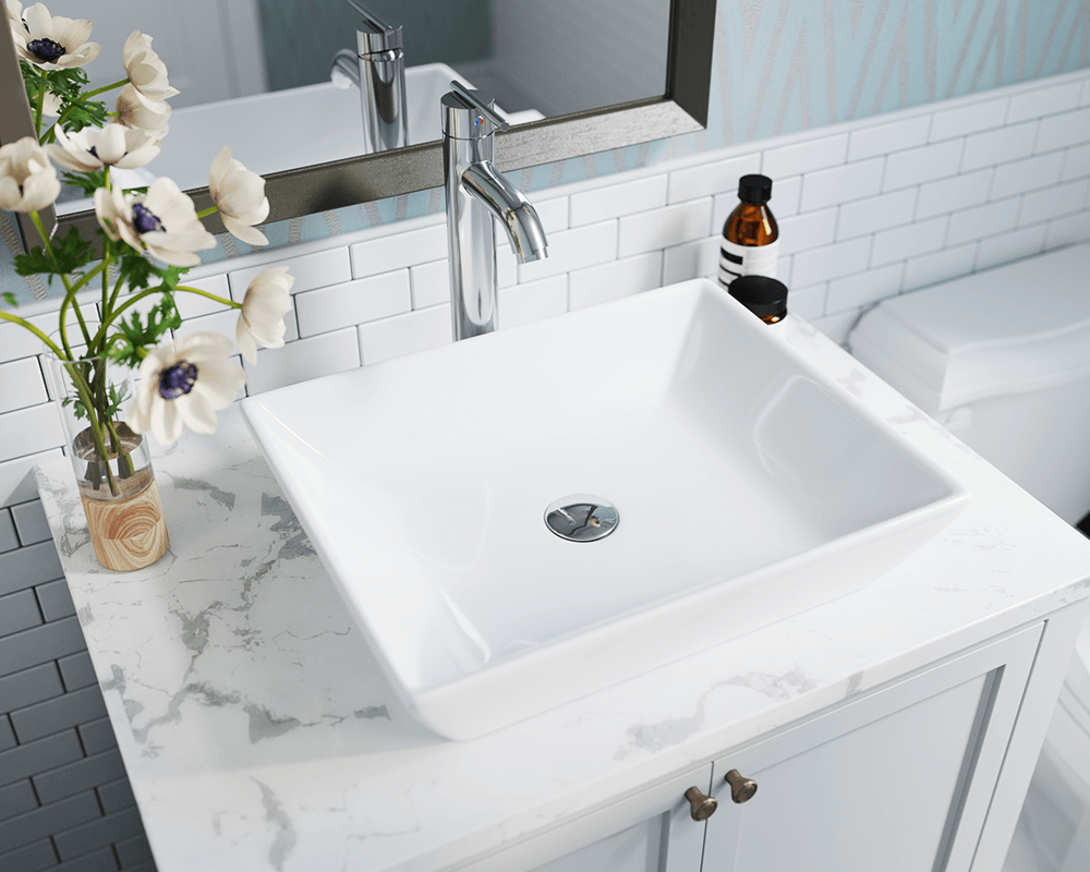 V370 White Porcelain Vessel Sink