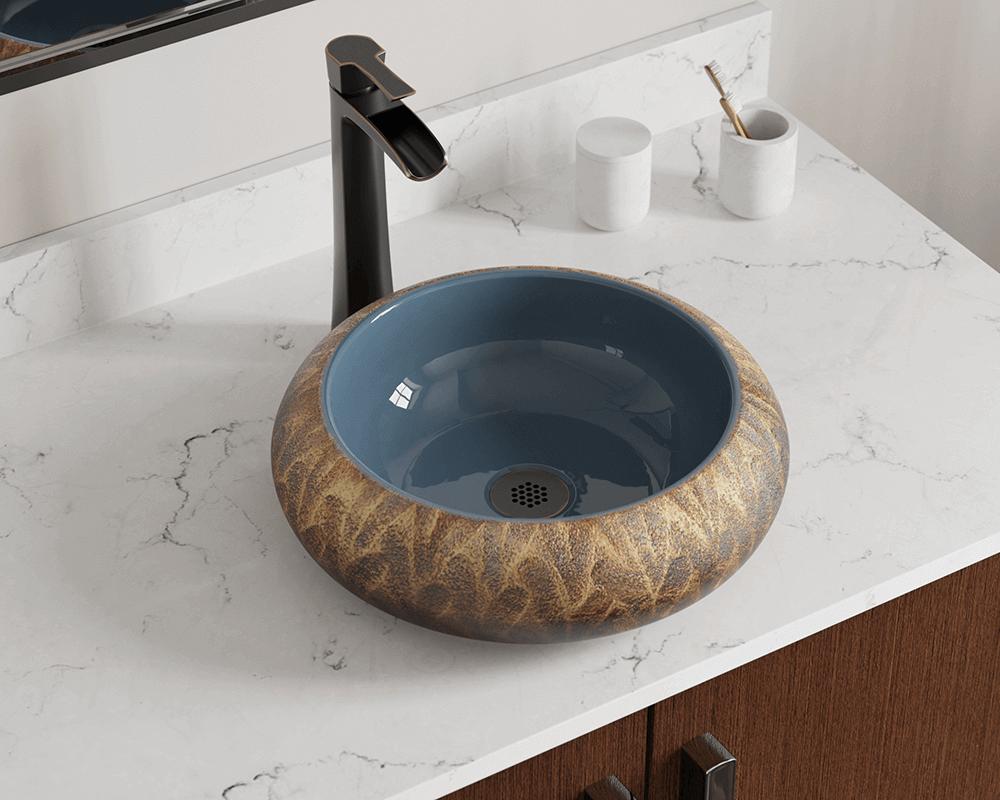 V403 Hand Thrown Ceramic Vessel Sink