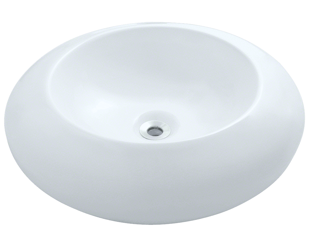 MR Direct V90-White Porcelain Vessel Sink