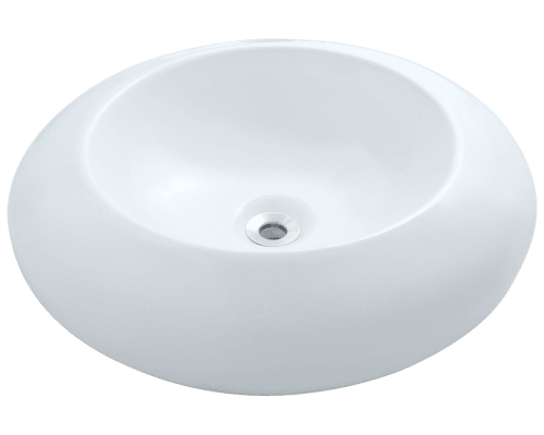 MR Direct V90-White V90-White Porcelain Vessel Sink