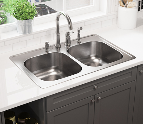 Our Stainless Steel Topmount Sinks Are Made In North America From 300  Series Stainless Steel And Have A Variety Of Bowl Options.
